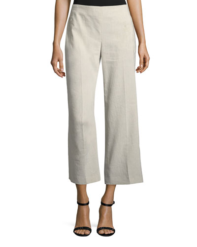 Odette Cropped Straight-Leg Pants
