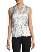Vichi V-Neck Fitted Blouse