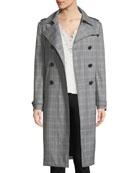 Watson Plaid Trench Coat