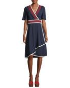 Peggy Jersey Wrap Dress