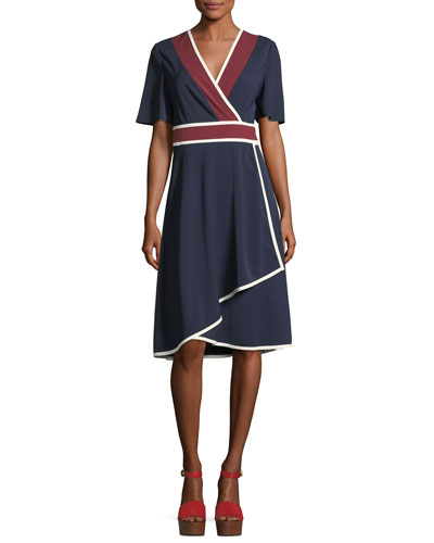 Peggy Jersey Wrap Dress