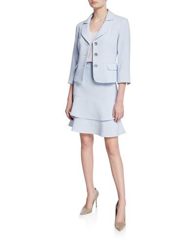 Topper Jacket & Tiered Skirt Set