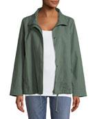 Organic Cotton-Hemp A-Line Jacket, Plus Size