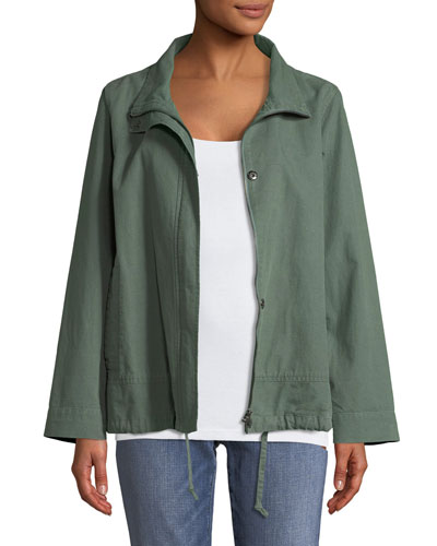Organic Cotton-Hemp A-Line Jacket, Plus Size
