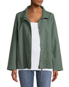 Organic Cotton-Hemp A-Line Jacket