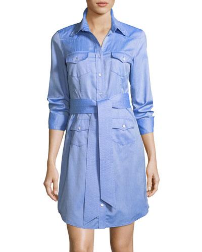 West Oxford Shirting Dress