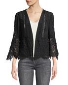 Amira Open-Front Scalloped Jacket