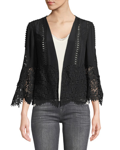 Amira Open-Front Scalloped Jacket