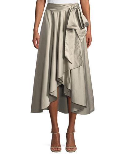 Italian Duchess Taffeta Wrap Skirt