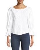 Nickie Shirting Cotton Top