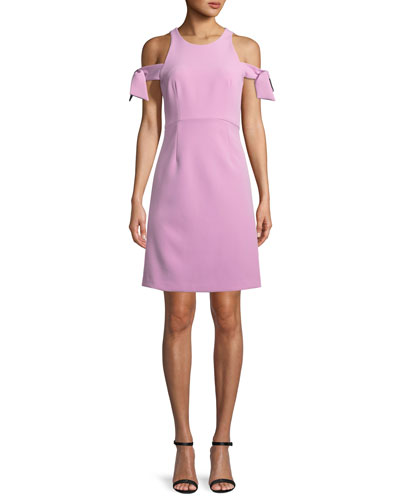 Madison Stretch Crepe Cold-Shoulder Dress