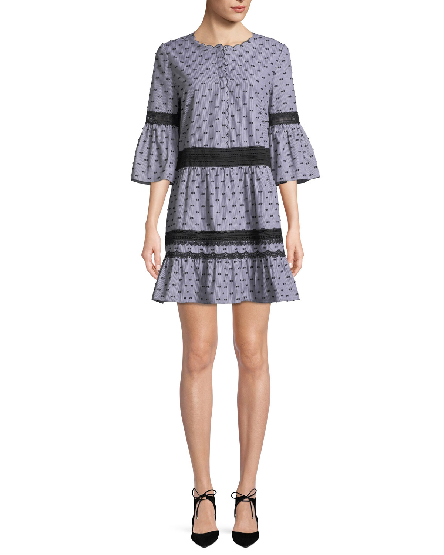 Joan 3/4-Sleeve Shift Dress