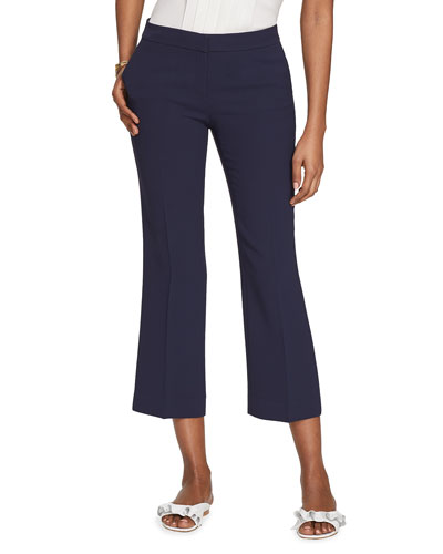 Manhattan Finesse Crepe Cropped Flare Pants
