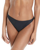 Elsa Minimal-Coverage Solid Swim Bikini Bottoms