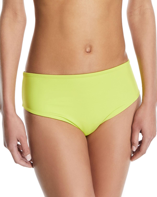 Isabeli High-Waist Reversible Swim Bottoms
