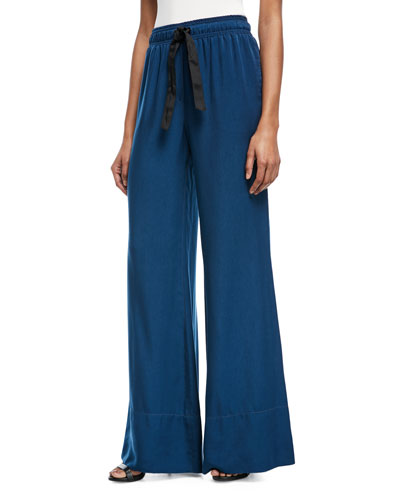 Sierra Drawstring Wide-Leg Pants