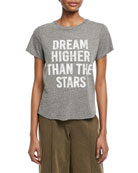 Tous Les Jours Dream Higher Crewneck Heathered Tee