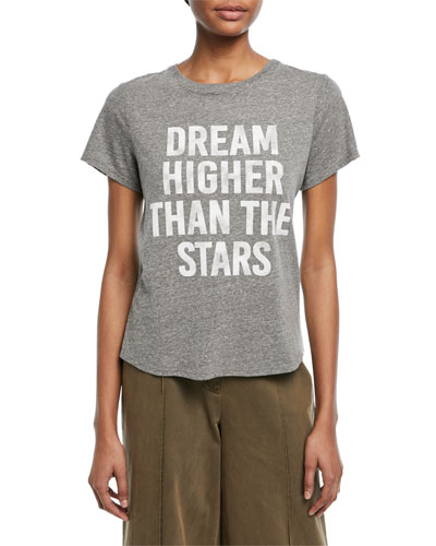 Tous Les Jours Dream Higher Crewneck Heathered Tee