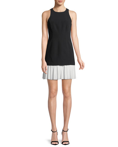 Catriona Sleeveless Pleated-Skirt Dress