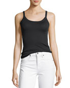 Scoop-Neck Cotton Cami