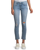 Mid-Rise Cropped-Ankle Skinny Jeans