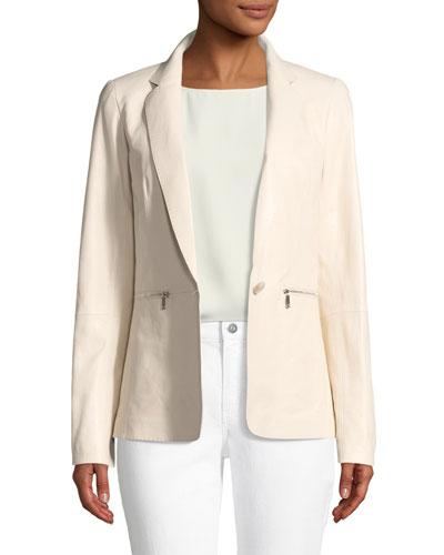 Lyndon Zip-Pocket Leather Jacket