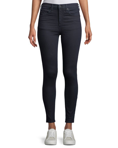 High-Rise Skinny Jeans, Dark Blue