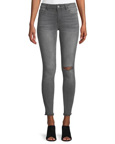 Emma Denim Power Legging Jeans with Slashed Knee