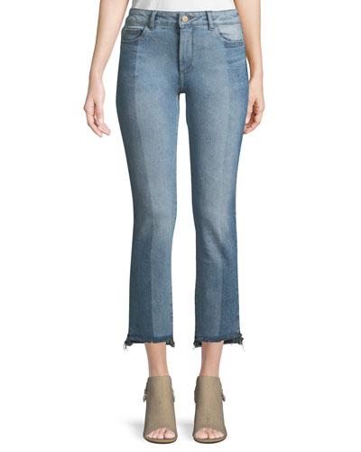 Maria Instasculpt Two-Tone Straight-Leg Jeans