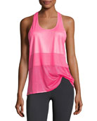 Scoop-Neck Racerback Mesh Jersey Performance Tank