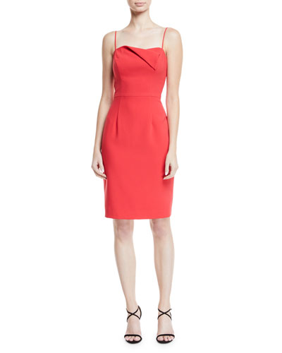 Brishten Fold-Over Spaghetti-Strap Dress