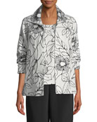 Frivolous Floral A-line Topper Jacket