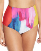 Lydia High-Waist Printed Swim Bottoms