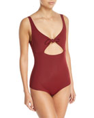 Adeline Tie-Waist One-Piece Swimsuit