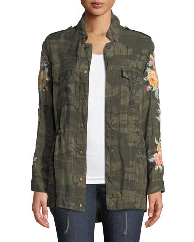 Brenna Embroidered Utility Jacket