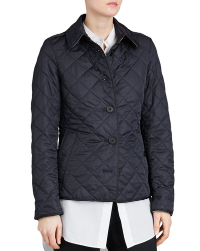 Frankby Quilted Jacket, Navy