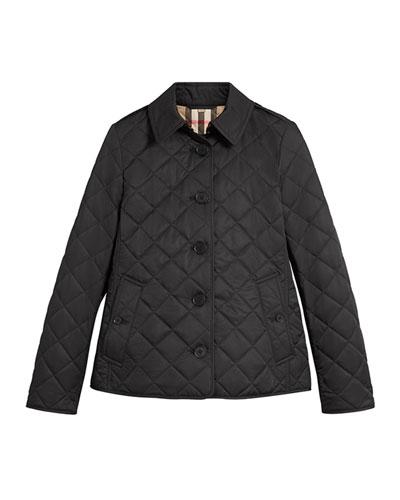 Frankby Quilted Jacket, Black