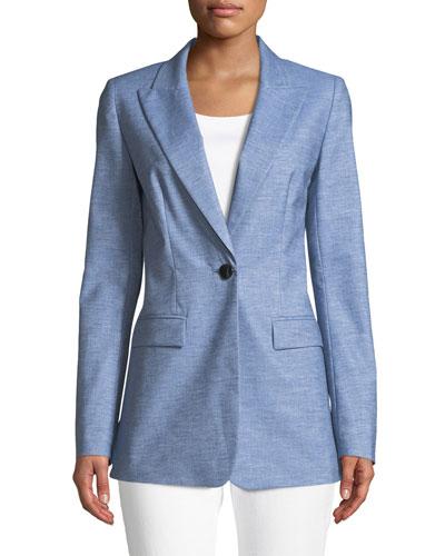 Briley Astute Denim One-Button Jacket