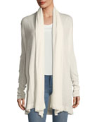 Open-Front Featherweight Cashmere Cardigan