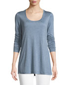 Hallie Featherweight Jersey Long-Sleeve Top