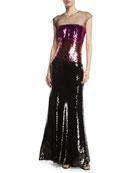 Cappadocia Tricolor Sequin Mermaid Gown