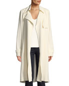 Oaklane WS Belted Rosina Crepe Trench Coat