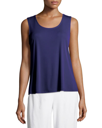 291c7516e9 Quick Look. Eileen Fisher · Stretch Silk Jersey Scoop-Neck Tank Top, Plus  Size
