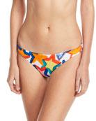 St. Lucia Star-Print Swim Bikini Bottoms