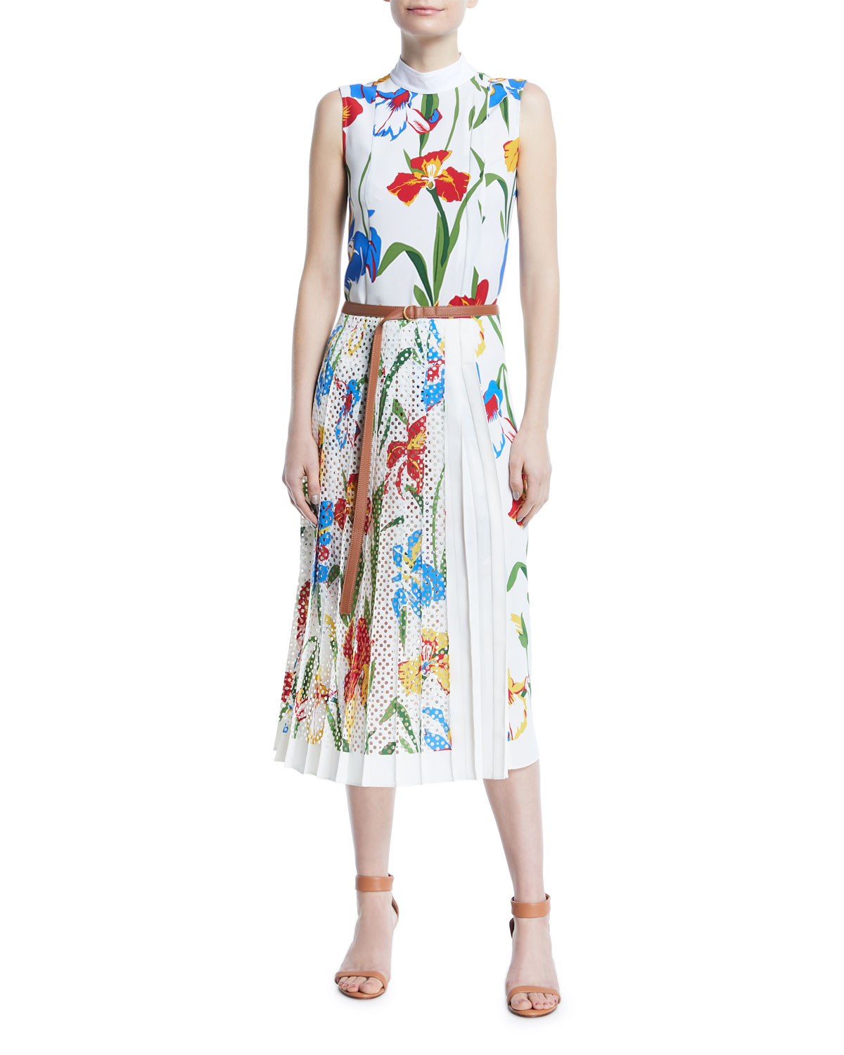 Carine Floral-Print Sleeveless Dress
