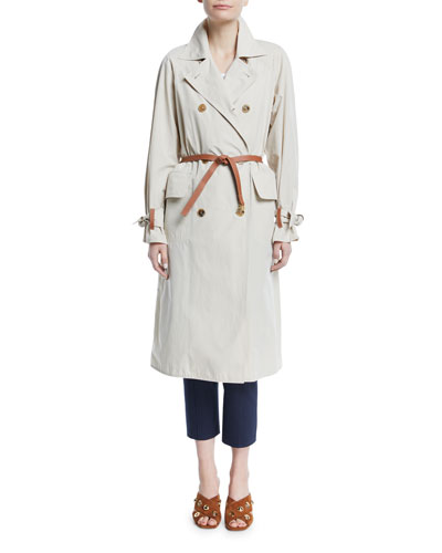 Marielle Trench Coat with Leather Belt