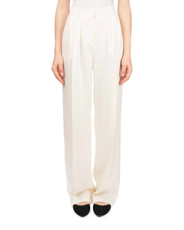 Caguas High-Waist Draped Trousers