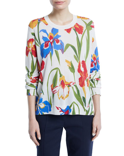 Kaelyn Floral-Print Sweater