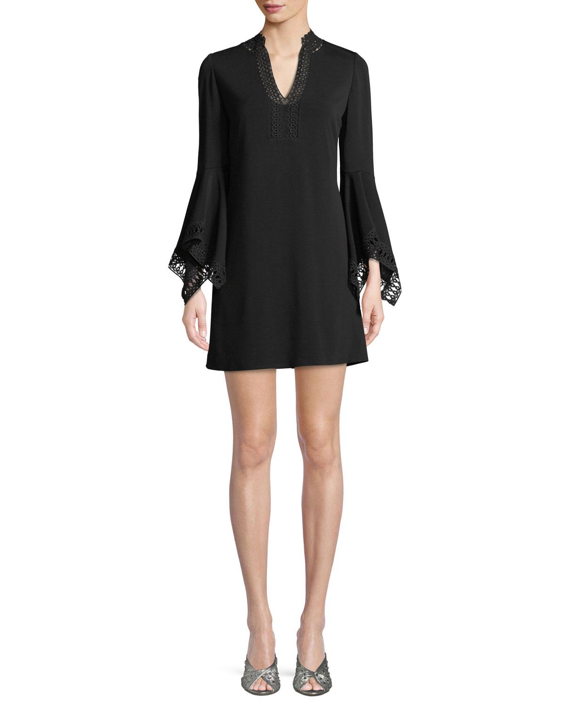 Lavana Bell-Sleeve Mini Dress