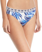 Banded Hipster Printed Swim Bottoms